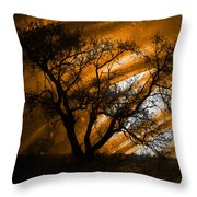 Wave Of The Hand Throw Pillow