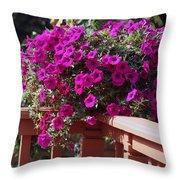 Wave Petunia Throw Pillow
