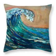 Wave To The South Throw Pillow