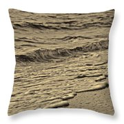 Waves At The Beach Throw Pillow