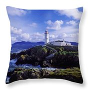 Waves Breaking On The Coast With A Throw Pillow