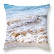 Waves Breaking On Tropical Shore Throw Pillow by Elena Elisseeva