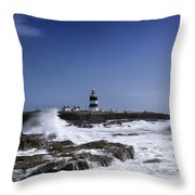 Waves Crash Against The Wexford Coast Throw Pillow