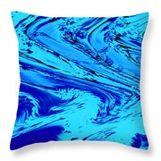 Waves Of Abstraction Throw Pillow