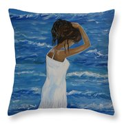 Waves Of Beauty Throw Pillow