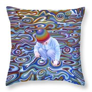 Waves Of Dream Throw Pillow