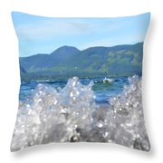 Waves Of Joy Throw Pillow