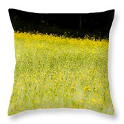 Waves Of Yellow Throw Pillow