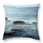 Waves On The Coast Throw Pillow