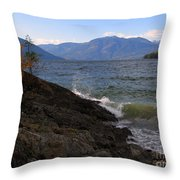 Waves On The Shore Throw Pillow