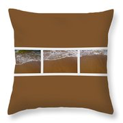 Waves Triptych Throw Pillow