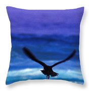 Wavewings Throw Pillow