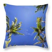 Waving Palm Trees Throw Pillow