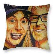 Wayne And Garth Throw Pillow