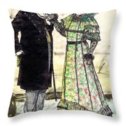 W.c.fields And Jan Throw Pillow