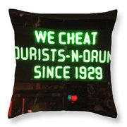 We Cheat Drunks Since 1929 Throw Pillow