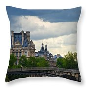 Weather In Paris Throw Pillow