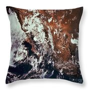 Weather Patterns Over Earth Throw Pillow