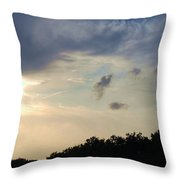 Weather Signs At Sunset Throw Pillow