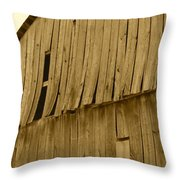 Weathered Barn I In Sepia Throw Pillow