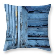 Weathered Blue Throw Pillow