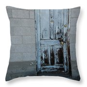 Weathered Door Virginia City Nevada Throw Pillow