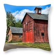 Weathered Red Barn Throw Pillow