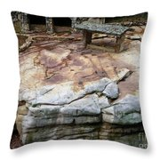 Weathered Stone Throw Pillow