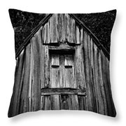 Weathered Structure - Bw Throw Pillow
