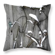 Weathered Tools Throw Pillow