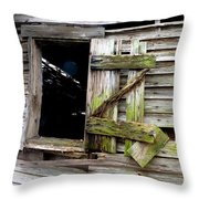 Weathered Wood Window Throw Pillow