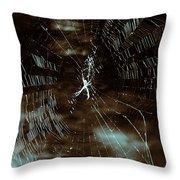 Web Glitter Throw Pillow