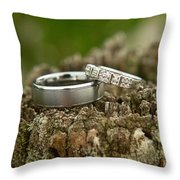 Wedding Bands And Fence Post 12 Throw Pillow