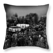 Wedding Bands On Stump Throw Pillow