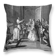 Wedding, C1730 Throw Pillow
