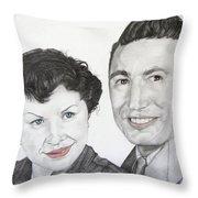 Wedding Day 1954 Throw Pillow