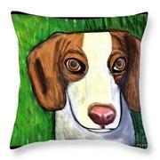 Wee Beagle Throw Pillow