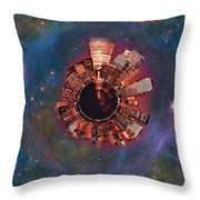 Wee Manhattan Planet Throw Pillow