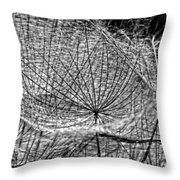 Weed Wandering Monochrome Throw Pillow