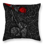 Weep Of A Rose  Throw Pillow