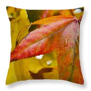 Weeping Red Leaf Throw Pillow