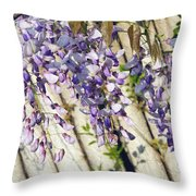 Weeping Wisteria Throw Pillow