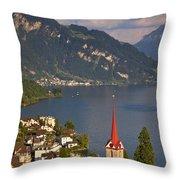 Weggis Switzerland Throw Pillow