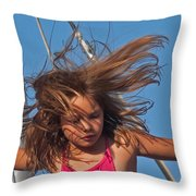 Weightless Hair Throw Pillow