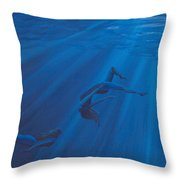 Weightless Waters Throw Pillow