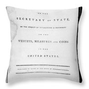 Weights, Measures & Coins Throw Pillow
