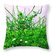 Weird Weeds Throw Pillow