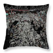 Welcome Riders Throw Pillow