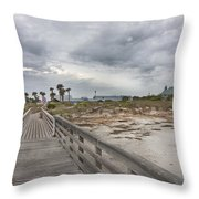 Welcome To Bald Head Island Throw Pillow