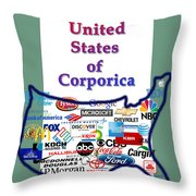 Welcome To Corporica Throw Pillow